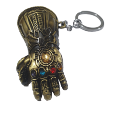 Chaveiro de Metal Manopla de Thanos com as Joias do Infinito
