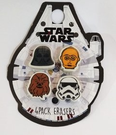 Kit com 4 Borrachas personagens - Star Wars
