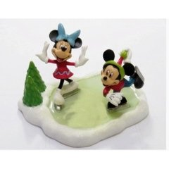 Estatueta Mickey e Minnie Patinadores - Disney