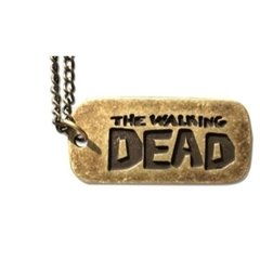Colar Pingente Placa The Walking Dead