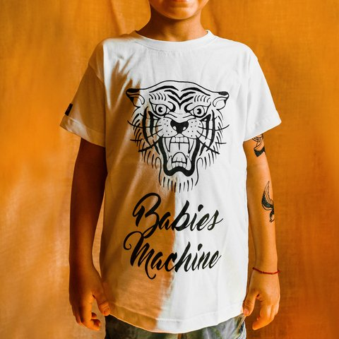 CAMISETA INFANTIL BABIES MACHINE TIGER UNISSEX