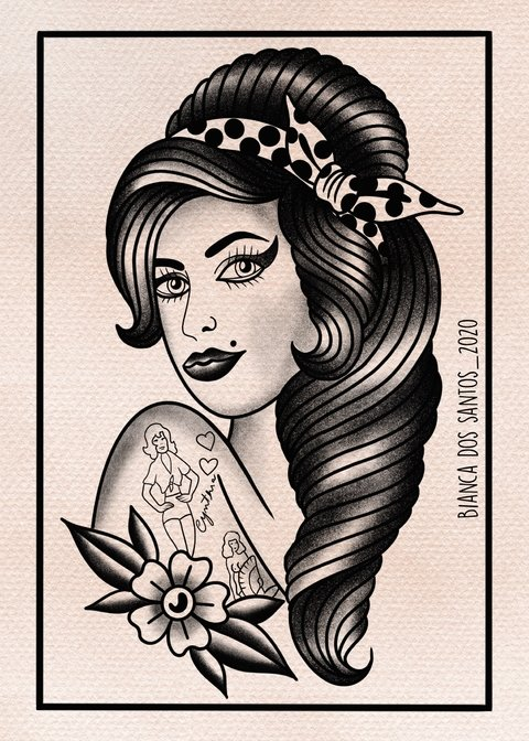 Print Amy Winehouse - comprar online