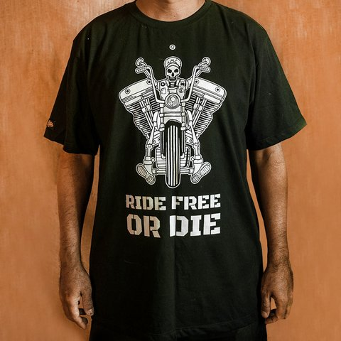 CAMISETA RIDE FREE OR DIE