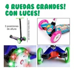 Monopatin De Pie 4 Ruedas Con Luces Power Love Nena S1 en internet