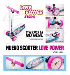 Monopatin De Pie 4 Ruedas Con Luces Power Love Nena S1 - comprar online