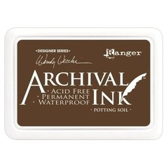 Almohadilla de Tinta Indeleble Ink Color Potting Soil Archival Ranger