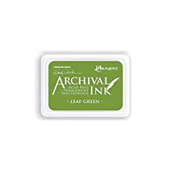 MINI ALMOHADILLA DE TINTA INK COLOR LEAF GREEN ARCHIVAL RANGER - comprar online
