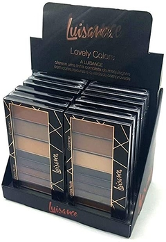 Paleta de Sombras Luisance Lovely Colors L6015 - Display 12 unidades