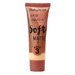 Base Líquida Soft Matte Ruby Rose - Cor Bege 3
