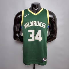 Regata Nike Milwaukee Bucks Personalizada (SILK)