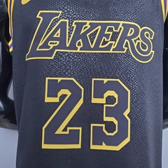 Regata Nike Los Angeles Lakers Personalizada (SILK) - Gold Sports