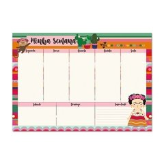 Blocos planner semanal frida colores