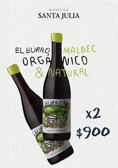 Dúo Pack Malbec Natural El Burro