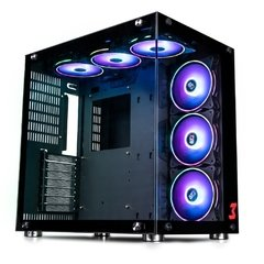 Gabinete Gamer Dt3 Sports Gaming Hyperspace Preto Vidro Temperado Mid Tower C/ 6 Fans Rgb Zx120 C/Janela - 11862-8