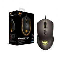 Mouse Cougar Gaming Minos X3 Black Edition 3.200 DPI PMW3360 8 Colors - 3MMX3WOB.001