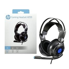 Headset Gamer Hp Gaming H200 Metal Led Blue Usb Estéreo - 8AA03AA#ABM