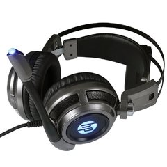 Headset Gamer Hp Gaming H200 Metal Led Blue Usb Estéreo - 8AA03AA#ABM na internet
