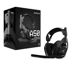 Headset Gamer Astro A50 Ps4 Preto Wireless + Base Station Pc/Console Usb Dolby Digital Surround 7.1 - 939-001674 - comprar online