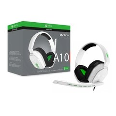 Headset Gamer Astro A10 Xbox One Branco/Verde Pc/Console P2 Estéreo - 939-001854