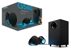 Caixa De Som Logitech Gaming G560 Bluetooth Lightsync Rgb 2.1 240w Ultra Surround 7.1 120rms - 980-001310
