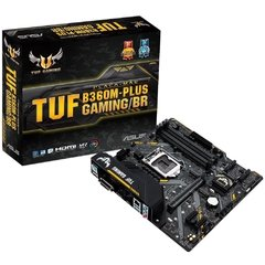 Placa Mãe Asus Tuf Gaming B360m-Plus Gaming/Br, Intel Lga 1151 Matx, 4xddr4, 2-M.2, Rede Intel, Áudio Realtek, Usb 3.0 Frontal, Dvi, Hdmi