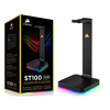Suporte Gamer Headphone Corsair Gaming St100 Preto Rgb Usb Dolby Digital Surround 7.1 - CA-9011167-NA