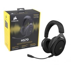 Headset Gamer Corsair Gaming Hs70 Preto Wirelles Dolby Digital Surround 7.1 - CA-9011179-NA