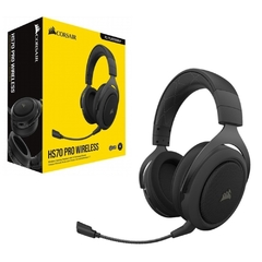 Headset Gamer Corsair Gaming Hs70 Pro Preto Wirelles Dolby Digital Surround 7.1 - CA-9011211-NA