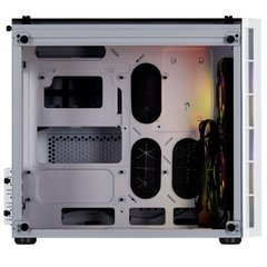 Gabinete Gamer Corsair Crystal Series 280x Rgb Branco Vidro Temperado Mini Tower C/ Janela - CC-9011137-WW na internet
