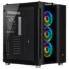 Gabinete Corsair Crystal Series 680X RGB Black Tempered Glass Mid Tower C/Janela - CC-9011168-WW