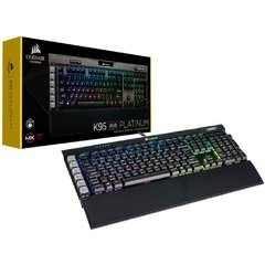 Teclado Gamer Mecânico Corsair Gaming K95 Rgb Platinum Cherry Mx Speed Rgb (Br) - CH-9127014-BR