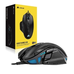 Mouse Gamer Corsair Gaming Nightsword Rgb Preto 18.000 Dpi Óptico - CH-9306011-NA