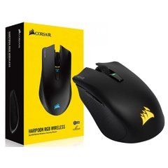Mouse Gamer Corsair Gaming Harpoon Rgb Preto Wireless/Bluetooth 10.000 Dpi Óptico Hibrido - CH-9311011-NA