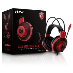 Headset Gamer Msi Gaming Ds501 Black/Red P2 Estéreo - DS501