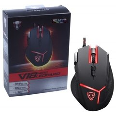 Mouse Gamer Motospeed V18 Hero Leopard Rgb Black Edition 4.000 Dpi Óptico - FMSMS0059PTO