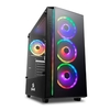 Gabinete Gamer Redragon Grapple Preto Vidro Temperado Mid Tower S/Fan C/Janela - GC-607-BK