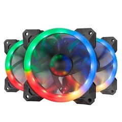Fan Redragon Gc-F008 Rgb 3 X 120mm Pwm C/ Controle - GC-F008