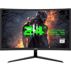 Monitor Gamer Led Curvo Gamemax Gmx24c144 Áudio Integrado 144hz Amd Freesync 1ms Hdmi/Dp/Hdmi 1080p 24'' - GMX24C144 - comprar online