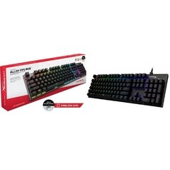 Teclado Gamer Mecânico Hyperx Alloy Fps Black Rgb Switch Kailh Silver (Us) - HX-KB1SS2-US