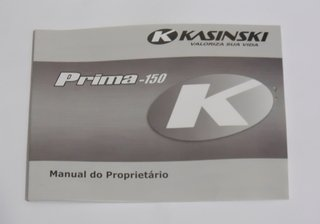 Manual Do Proprietário Prima 150 Original Kasinski