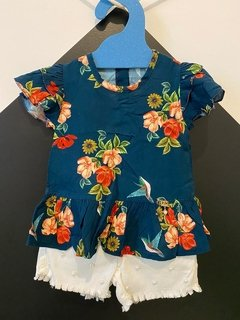 Conjunto Bata Viscose e Shortinho