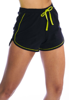 Shorts Molecotton Filete Preto