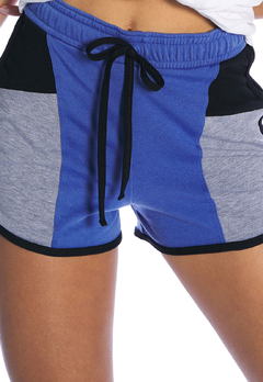 Shorts Molecotton Colorblock Azul