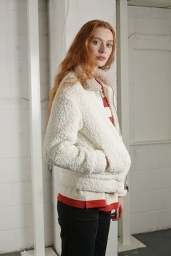 TWO TONE TEDDY COAT - comprar online