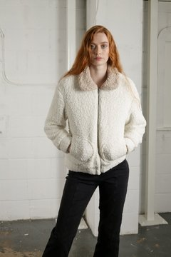 TWO TONE TEDDY COAT