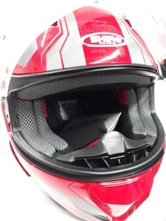 Casco Integral Shiro Sh-890 Gris Rojo Brillo - Cycles