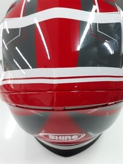 Casco Integral Shiro Sh-890 Gris Rojo Brillo - Cycles en internet