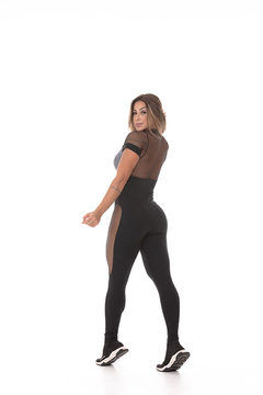 MACACÃO FONT P&B - People Fit - Moda Fitness - Atacado e Varejo