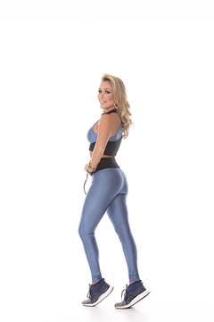 CONJUNTO DIAMANTE AZUL COM PRETO - People Fit - Moda Fitness - Atacado e Varejo