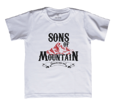 Camiseta Infantil Sons of Mountain Branca | Nos Alpes